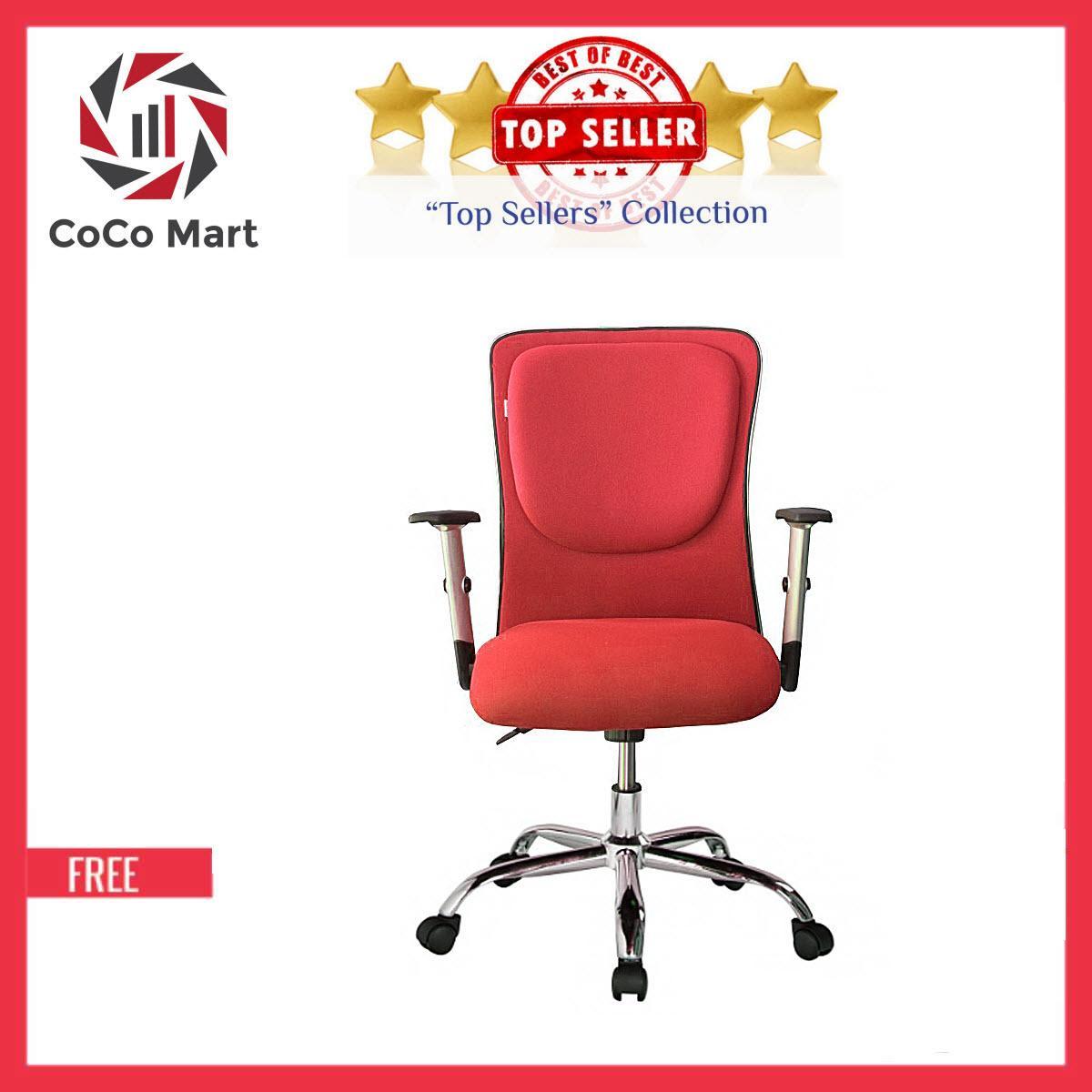 Ghế Trưởng Phòng Cao Cấp Chân Xoay CoCo241 (Đỏ)