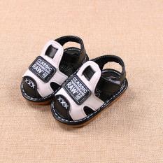 giầy dép sandal bé trai size 15-19 classic đen có kèn