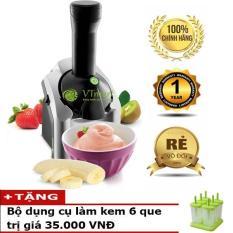 Máy làm kem tươi mini gia đình Yonanas + Kèm bộ dụng cụ làm kem 6 que – BH 12 tháng