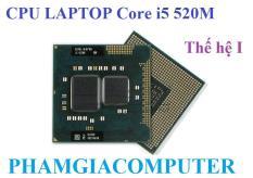 Bộ vi xử lý CPU Laptop Intel Core i5 520M 4 x 2.40Ghz up Thế hệ 1 – Hàng nhập khẩu-Tặng keo tản nhiệt.
