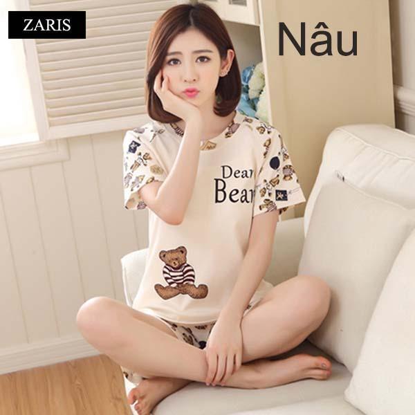 Bộ quần áo short mặc nhà vải thun thoáng mát ZARIS ZR3015