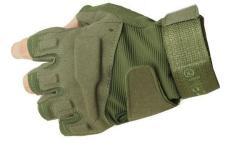 Găng tay phượt thủ cụt ngón gù vải hàng nhập khẩu _Màu Xanh rêu