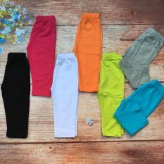 Combo 5 quần legging dài màu trơn – bé 8kg đến 18kg