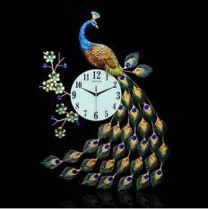 Đồng hồ trang trí hình chim công độc đáo
