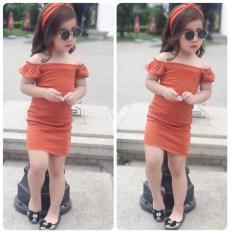 Váy trễ vai bé gái