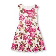 Rose Print Mesh The Children's Place Dress