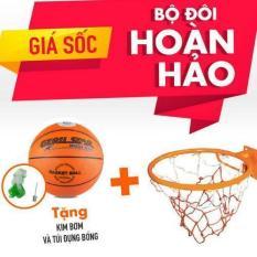 Combo Khung bóng rổ số 7-m65 +Qủa bóng rổ số 7 CAM