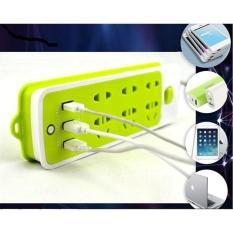Ổ điện đa năng USB 16 lỗ xanh