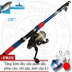 Cần Câu Cá 2m7+(tặng dây câu quấn sẵn,phao,chì câu và lưỡi)