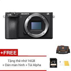 Máy ảnh Sony A6500 Body – Màu đen – Tặng thẻ nhớ 16GB + Túi + Dán màn hình + Gói cài App Collection