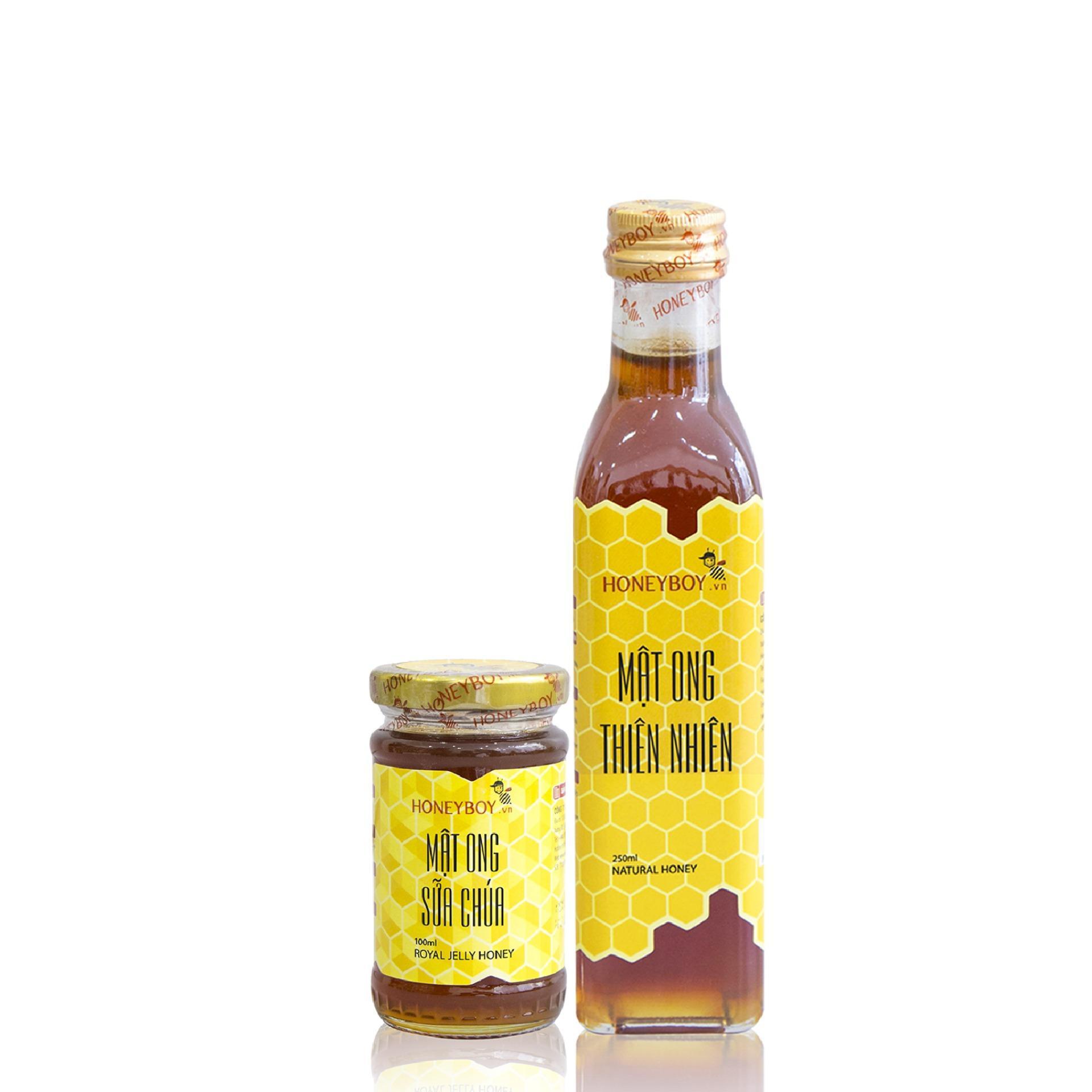 Giá Bộ Mật ong thiên nhiên 250ml và Mật ong sữa chúa 100ml
