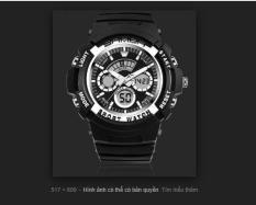 Đồng hồ thời trang thép không gỉ SANDA S3 (Đen xanh)
