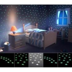 100 ngôi sao dán tường phát sáng trong đêm trang trí phòng cho bé