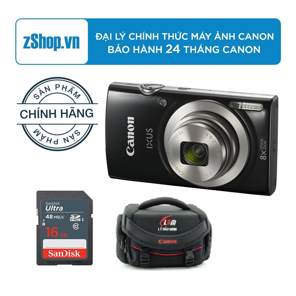 Nên mua Canon IXUS 185 (Đen) – Hãng Phân phối chính thức – Tặng Thẻ nhớ Ultra SanDisk SDHC 16GB Class 10 UHS-I 48MB/s – Túi đựng máy ảnh ( Lê Bảo Minh ) ở zShop (Tp.HCM)