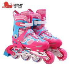 Giày trượt Patin Cougar cao cấp có đèn 835LSG thể thao nhiều màu ĐỒ TẬP TỐT