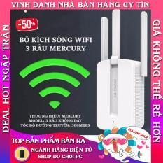 Bộ kích sóng wifi 3 râu Mercury (wireless 300Mbps) cực mạnh, Tăng Sóng Wifi,Kích Wifi , Bộ Tiếp Nối Sóng Wi-Fi