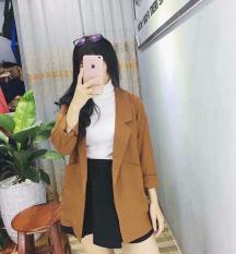 Áo khoác Vest Blazer nữ nâu tây – AK1514