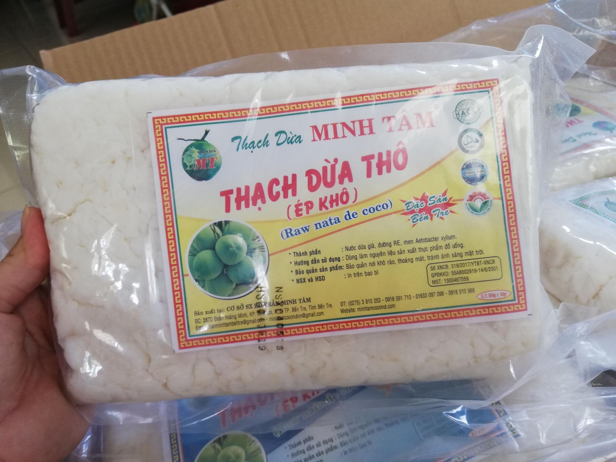 Thạch dừa khô Bến Tre 1 ký Có tặng hương dừa