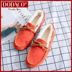 Giày lười nữ DODACO DDC2071 692 giày đế bằng nữ thời trang style hàn quốc chất liệu siêu nhẹ vải khử mùi thoáng khí hàng hot trends giá rẻ mẫu mới nhất 2018 màu