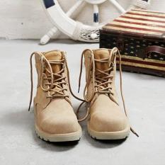 Giày nam cao cổ da lộn thời trang – A15K (kem)