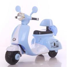 Xe máy điện trẻ em Vespa cổ 3279 ( Hồng ) + Tặng Random đồ chơi gỗ chính hãng cao cấp