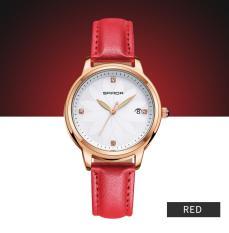 Đồng hồ nữ SANDA dây da mặt khắc hoa nghệ thuật JS-SD219