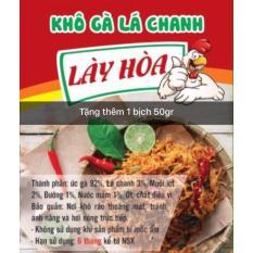 Khô gà lá chanh cay, giòn 500gr Lày Hòa (bịch ziper)