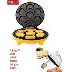 Máy nướng bánh hình thú+tặng máy đánh trứng
