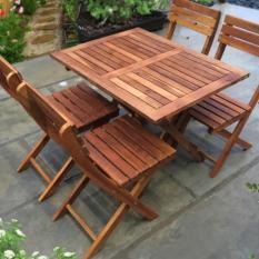 Bàn ghế gỗ xếp 60×80 cao 60cm