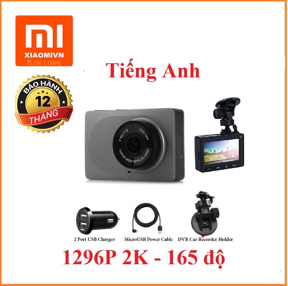 Camera hành trình xe hơi ô tô Xiaomi Yi Smart Car DVR Bản ngôn ngữ tiếng anh (Xám)
