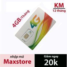 Sim 4G Viettel D500 4Gb/tháng x 12 tháng. Trọn gói 1 năm .Siêu Rẻ từ maxstore .Mua về dùng ngay.