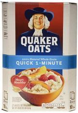 Yến mạch Mỹ Quaker Oats cán vỡ Quick 1-Minute nguyên thùng 4.52kg
