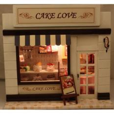 Girl doll house Furniture toy diy Miniature room diy wooden dollhouse Cake Love C004 Diydollhouse