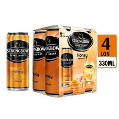 Hộp 4 lon cao Strongbow vị mật ong 330ml