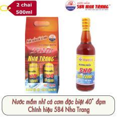 Combo 2 chai Nước mắm Cốt Hảo hạng 40 độ đạm 584 Nha Trang PET x 500ml PM40