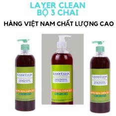 Combo 3 chai nước rửa chén bát hữu cơ Layer Clean 800ml