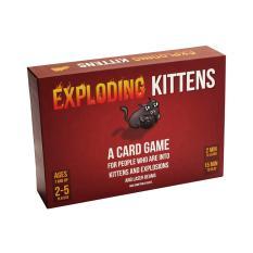 Bộ bài mèo nổ đỏ cơ bản Exploding Kittens mèo cảm tử Boardgame