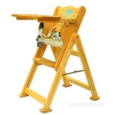Ghế ăn dặm cho bé bằng gỗ có thể gấp gọn