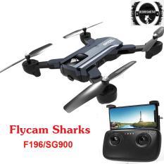 Flycam Sharks Selfie Drone F196/SG900 Chức Năng Cải Tiến Vượt Bậc, Camera Kép 720P FPV, Tích Hợp Hệ Thống Cảm Quang Đột Phá, Điều Khiển Từ Xa