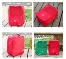 Túi dù đựng giày dép đi du lịch công tác vải dù chống thấm nước có 3 ngăn đựng đồ dùng cá nhân