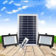 Bộ đèn LED năng lượng mặt trời 126 bóng điều khiển bằng remote SL-388B