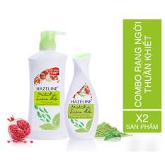 Bộ đôi dưỡng trắng cơ thể Hazeline Matcha – Lựu đỏ (Sữa tắm Hazeline 700g + Sữa dưỡng thể 230ml)