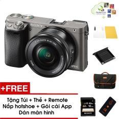 Máy ảnh Sony Alpha A6000 kèm Kit 16-50mm – Màu Xám – Tặng thẻ nhớ + Túi + Dán màn hình + Remote + Gói cài app + Nắp hotshoe – Hàng phân phối chính hãng