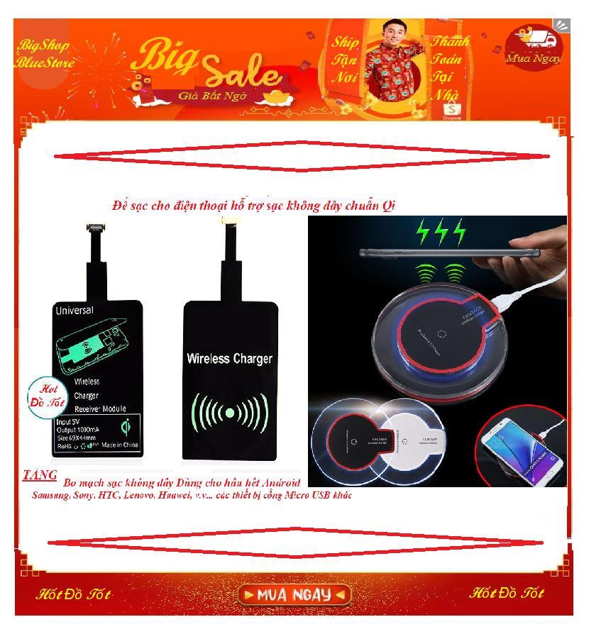 bán buôn phụ kiện samsung – Sạc không dây fantasy.vPro HOT1013 Chuẩn Qi + Tặng Bo mạch sạc Chân Micro USB cho Android – BH 1 đổi 1 Uy tín -ban do cong nghe