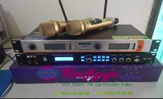 Bộ karaoke gia đình giá rẻ gồm 1 vang số BTE và 1 bộ Micro Shure UGX9 II