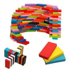 Bộ đồ chơi 120 quân Domino bằng gỗ nhiều màu sắc