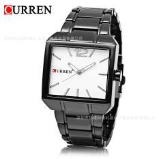 Đồng hồ nam thời trang mặt vuông dây thép không gỉ bền bỉ Curren 8132