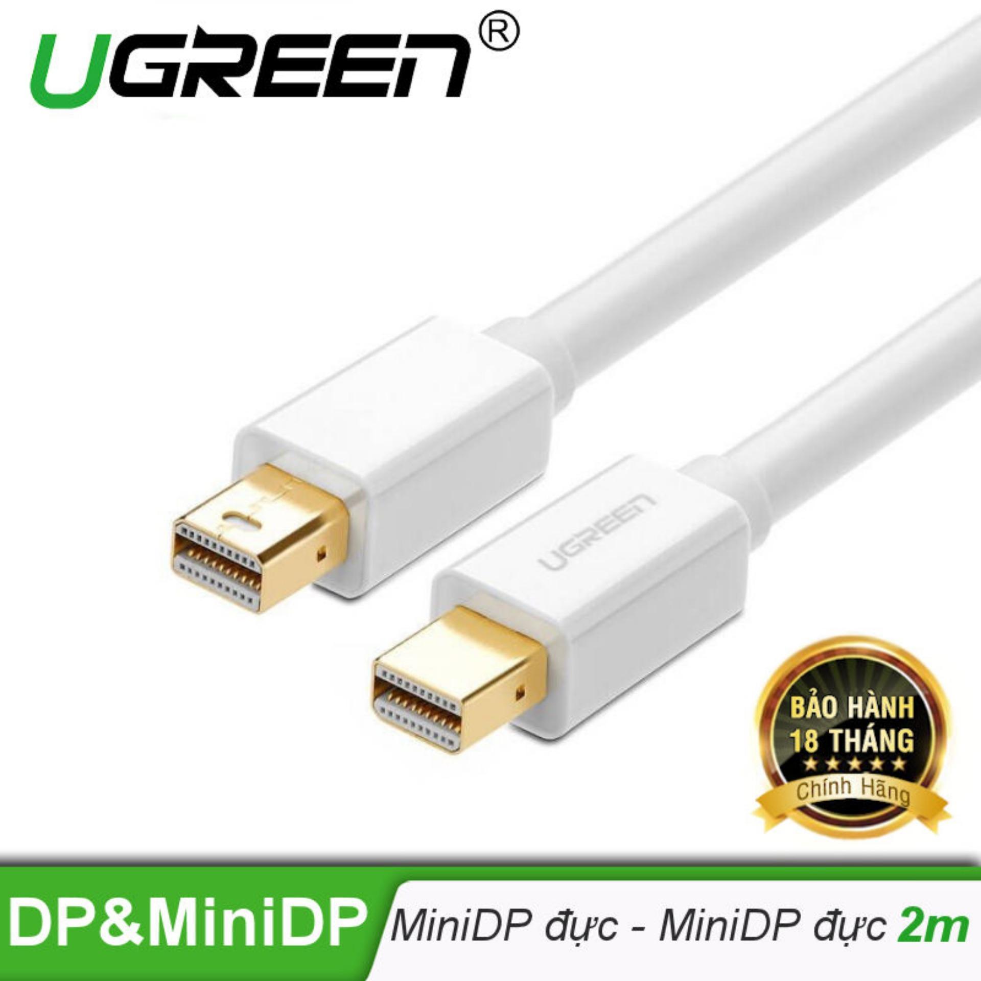 Dây cáp chuyển đổi mini DisplayPort đực sang mini DisplayPort đực dài 2M UGREEN MD111 10429 – Hãng phân phối chính thức