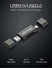 Đầu đọc thẻ USB 2.0 ( Type-C + Micro USB + SD + TF ) Vention CCJH0