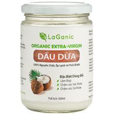 Dầu dừa nguyên chất LaGanic 500ml